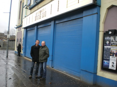 Lee and Craig outside the O2 Academy in Glasgow