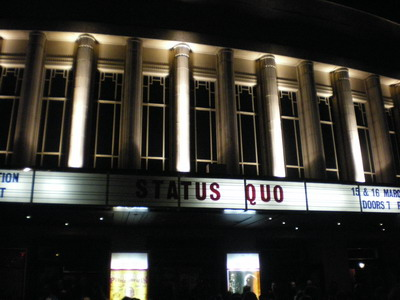 The main event, Quo at Hammersmith!