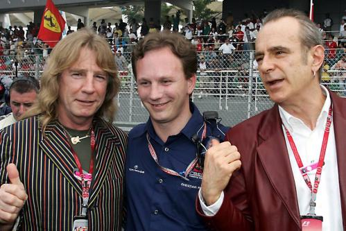 Francis and Rick with Red Bull boss Christian Horner (copyright CRASHNET)